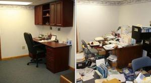 uredna i neuredna kancelarija
