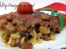 pasulj sa špagetama
