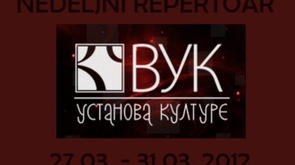 Nedeljne predstave u pozorištu Vuk – 27.03. 31.03.