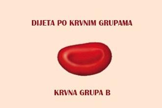dijeta po krvnim grupama krvna grupa b