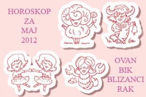 Horoskop za maj 2012 Ovan – Rak