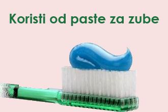 koristi od paste za zube