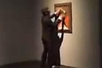 vandalizam svetskih umetnina - ostecena Pikasova slika