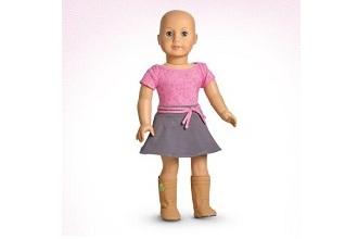 american girl lutka bez kose