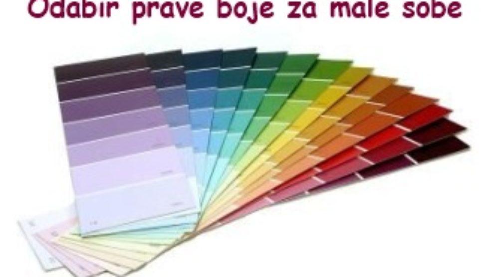 Odabir prave boje za male sobe