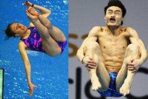 Olimpijski plivaci uhvaceni u skoku
