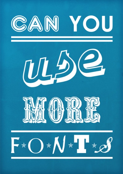 mozemo li koristiti vise fontova