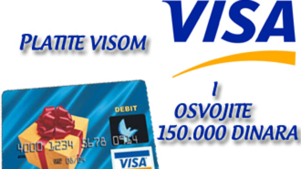 Platite Visom i osvojite 150.000 dinara