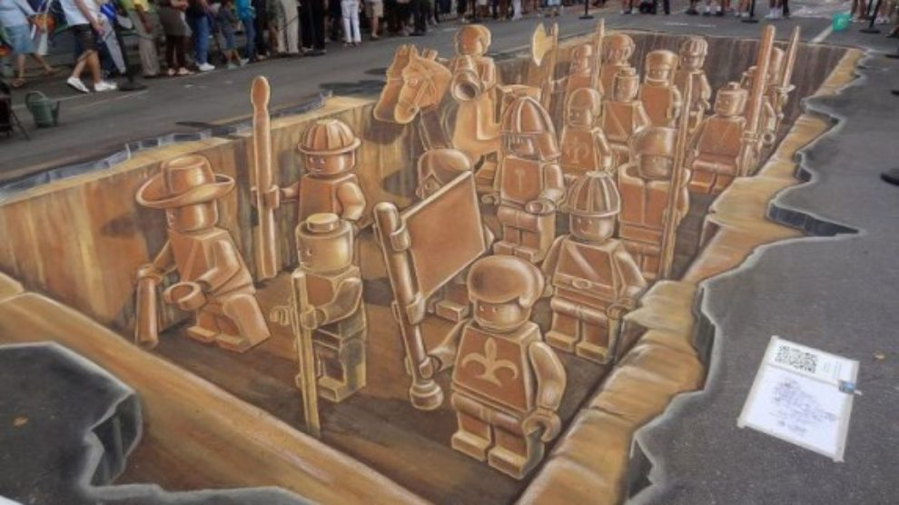 Lego 3D ulični mural