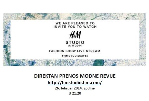 Direktan prenos HM revije na Nedelji mode u Parizu
