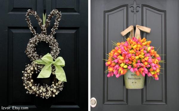 uskršnje dekoracije venac za vrata