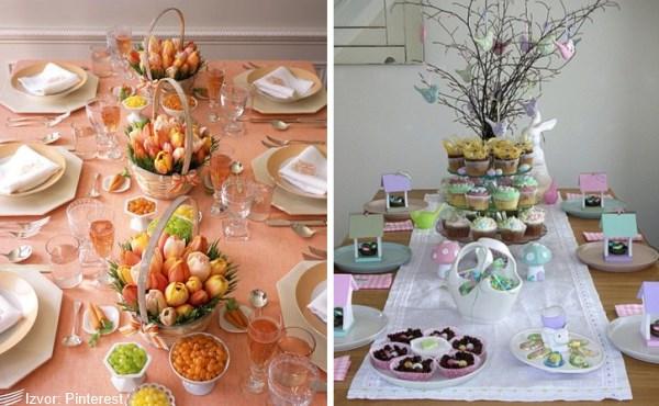 ideje za uskršnje dekoracije stola za ručavanje