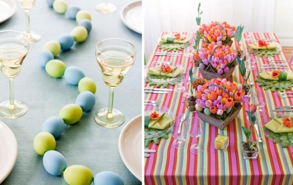 uskršnja dekoracije stola za ručavanje