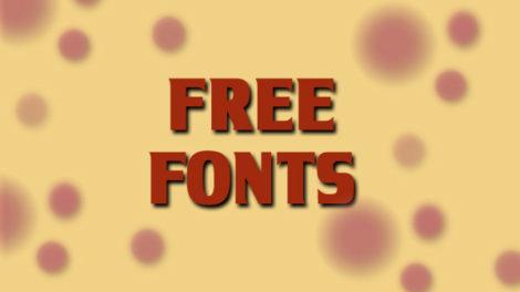 Besplatni fontovi za maj!