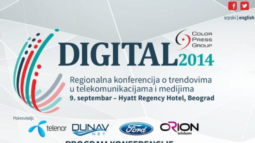 Digital 2014 konferencija o medijskim i telekomunikacionim trendovima u regionu