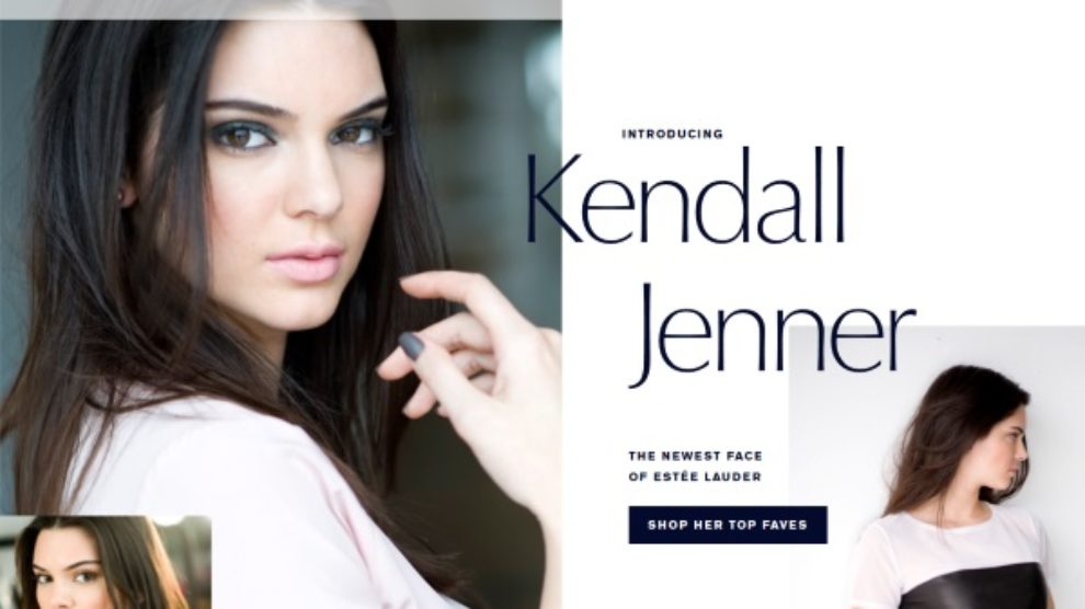 Novo lice Estée Lauder je Kendall Jenner!