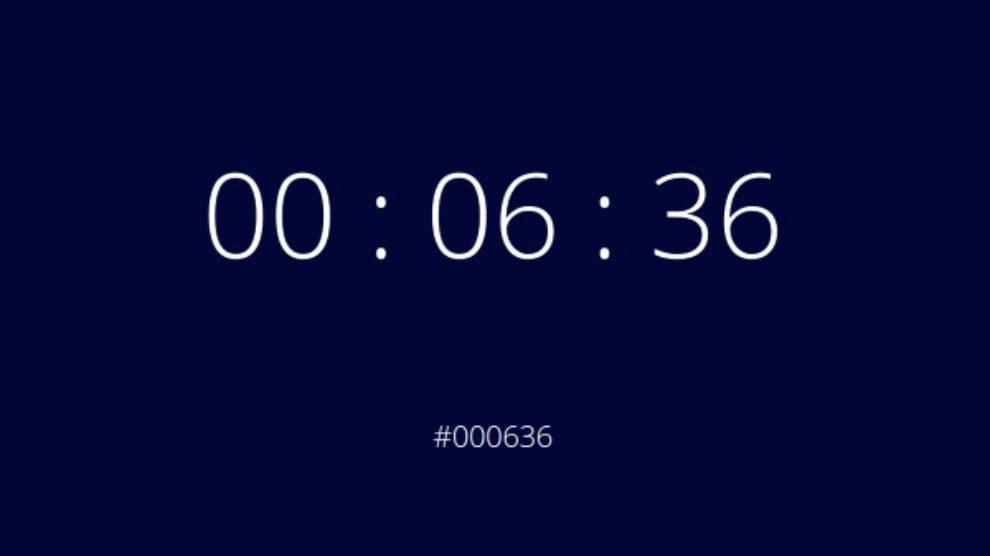 Koja je to boja – sat koji pokazuje kodove boja