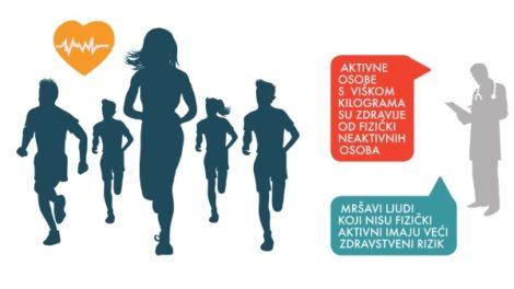 Nedostatak fizičke aktivnosti češći uzrok smrti od gojaznosti!