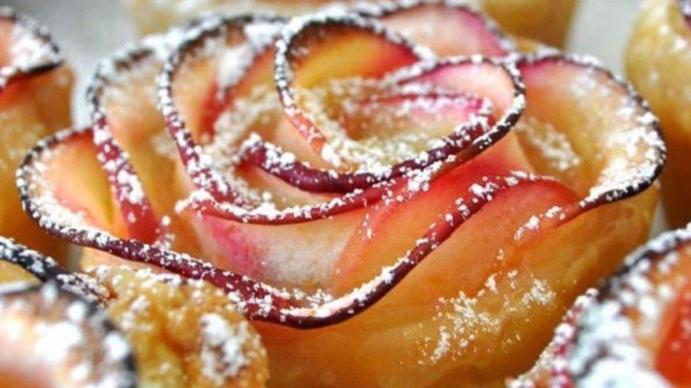 Pečene jabuke u obliku ruže