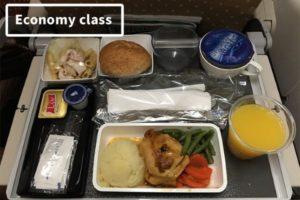 Hrana u avionu ekonomska vs prva klasa