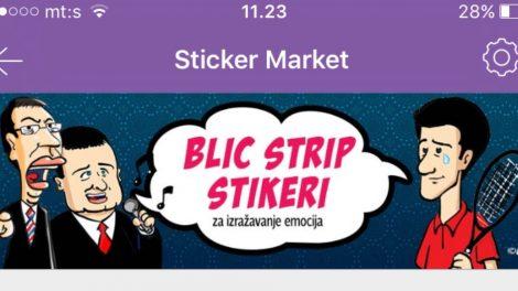 Blic strip stikeri na Viberu