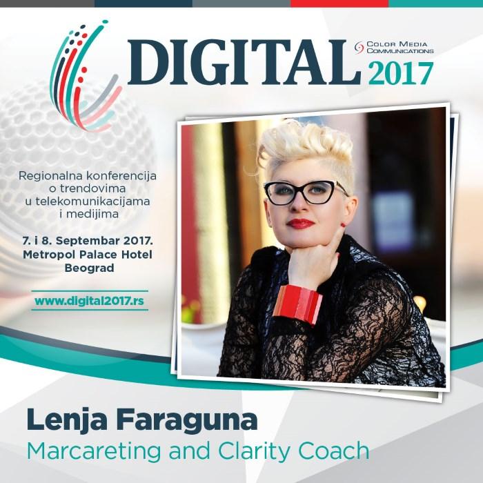 lenja faraguna, jedna od učesnika digital 2017 konferencije