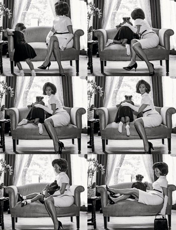 crno bele fotografije Kim Kardashian kao Džeki Kenedi