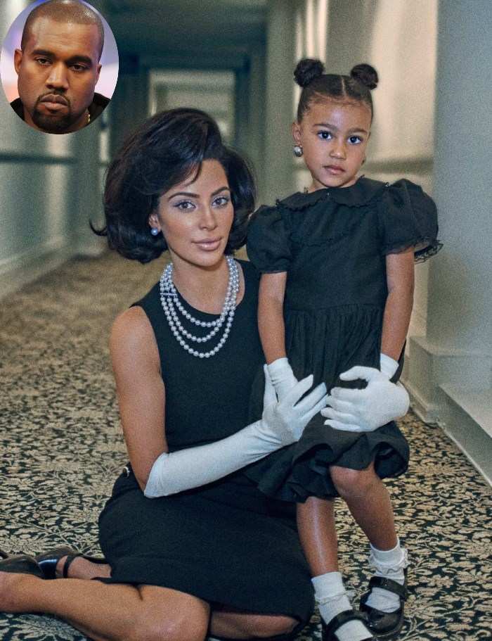 kim kardashian i north west poziranje za magazin