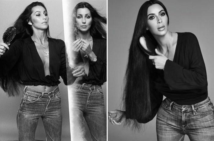 kim kardashian kao cher editorial fotografije
