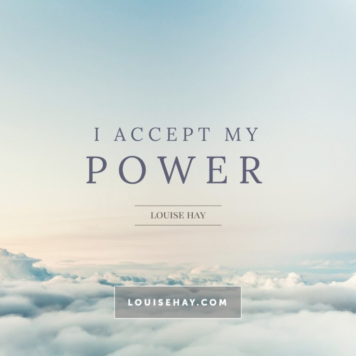 Lujza Hej citat o prihvatanju sopstvene moći