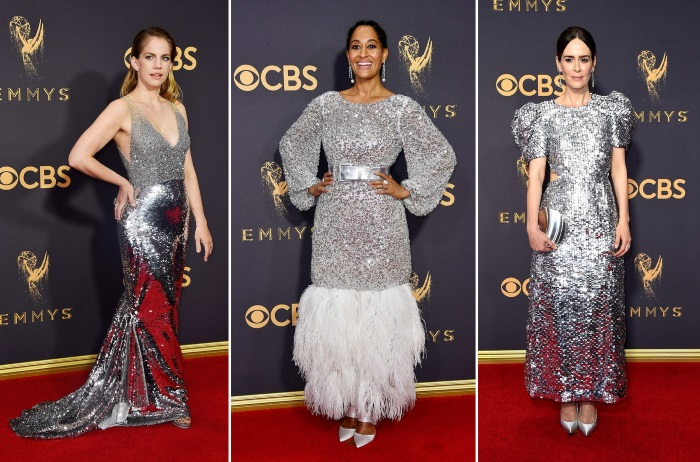 emmys 2017 moda sa crvenog tepiha tri glumice u srebrnim haljinama