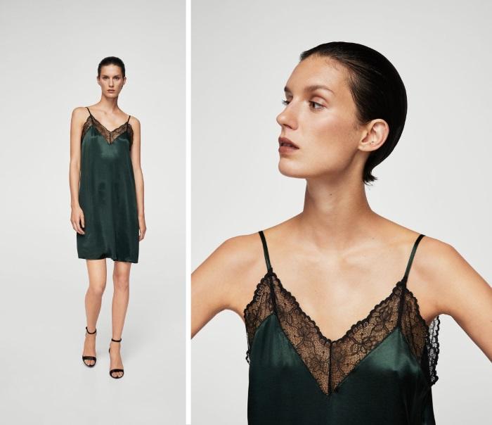 šta obući za novu godinu mango čipka haljina