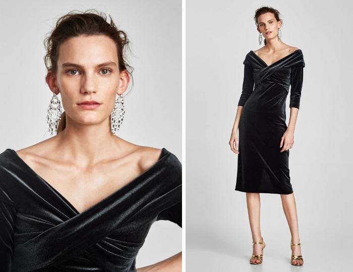 šta obući za novu godinu pliš haljina