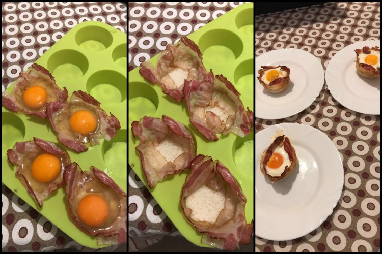mafini od jaja na oko postupak