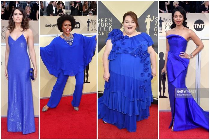 sag awards 2018 obučene u plavo