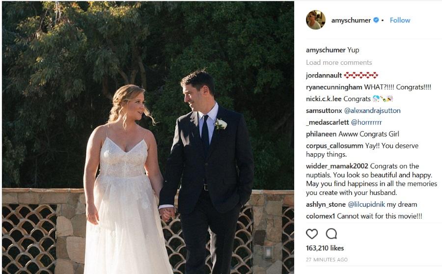 amy schumer se udala fotografija sa venčanja