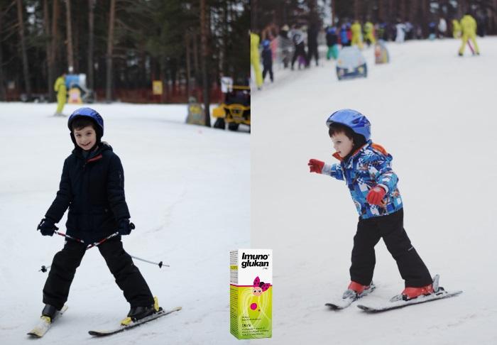 dečaci na skijanju