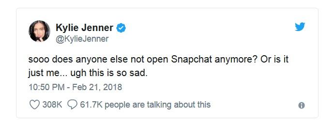 tweet kylie jenner kojim je oborila vrednost snapchata