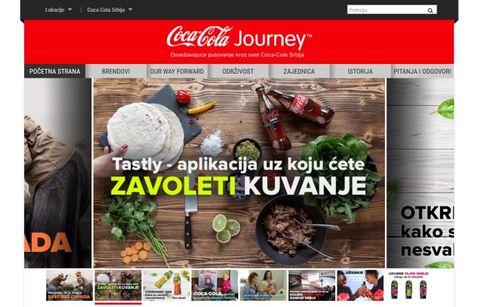 coca-cola journey novi sajt