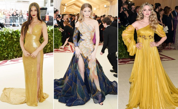 met gala 2018 moda olivia, gigi i amanda