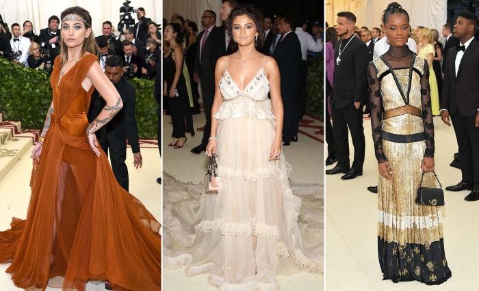 met gala 2018 moda paris, selena i letitia