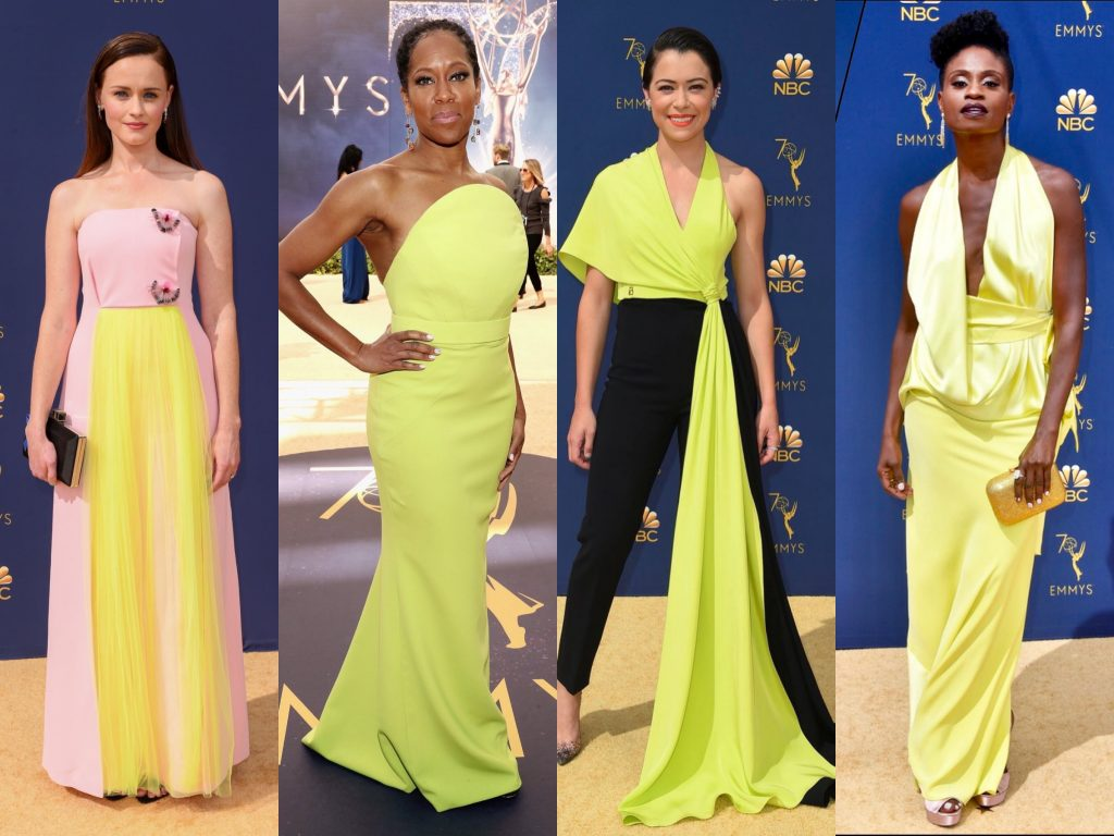 emmys 2018 moda neon žuta boja
