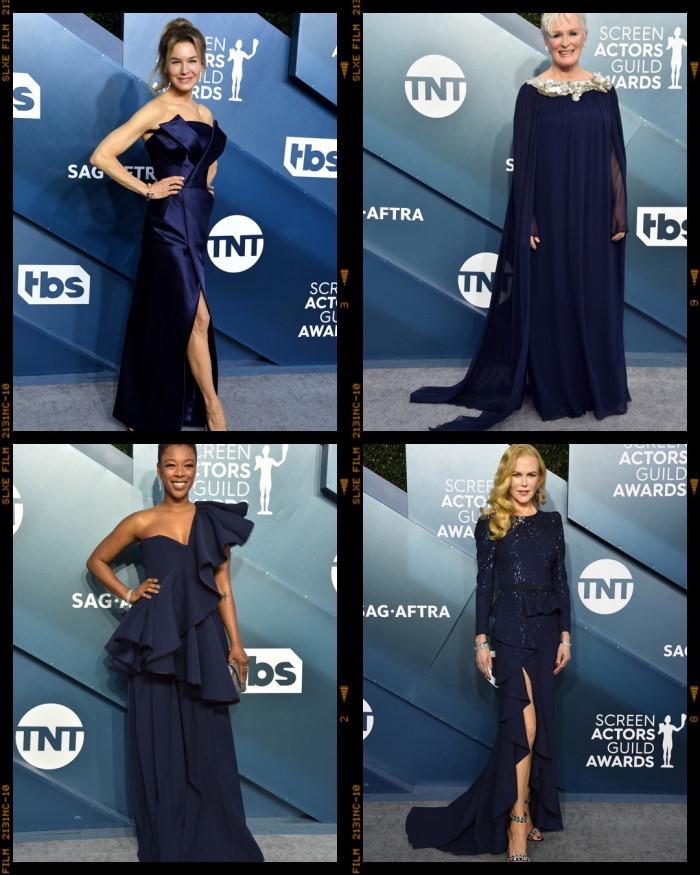 sag awards 2020 moda plavi tonovi