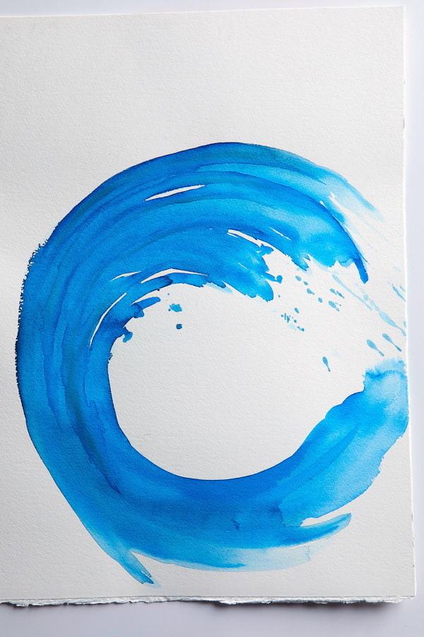 akvarel slike - rotirajući krug