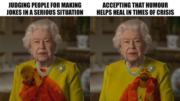 britanska kraljica meme