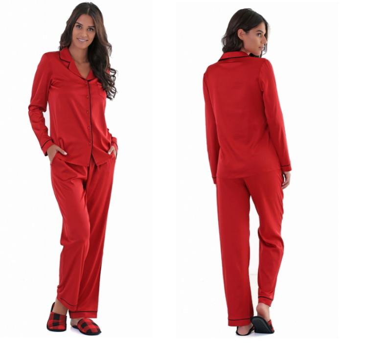 crvena ženska novogodišnja pidžama