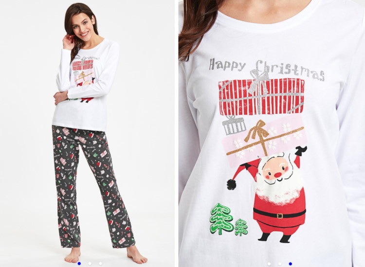 novogodišnje pidžame za nju