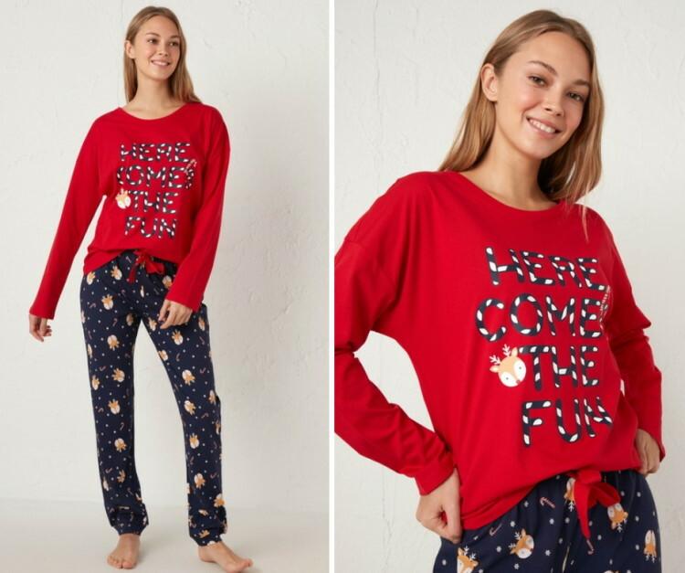 ženska novogodišnja pidžama